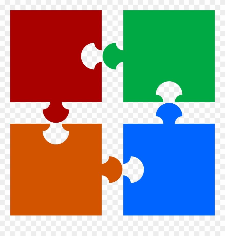 Christian puzzle clipart jpg stock Vector Transparent Piece Clipart Four - 4 Puzzle Pieces Png ... jpg stock