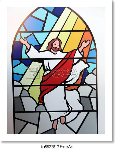 Christian stained glass clipart svg stock Free art print of Religious stained glass. svg stock