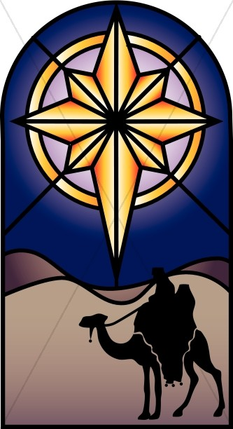Christian stained glass clipart picture stock Stained Glass Nativity Star Clipart | Epiphany Clipart picture stock