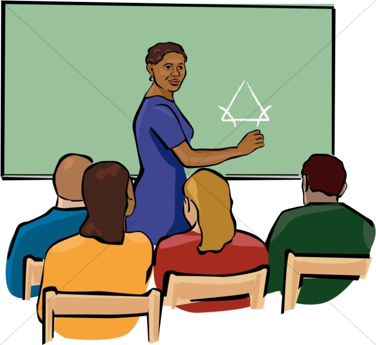 Christian teachers clipart picture black and white stock African American Teacher Clipart in Color | Christian Classroom Clipart picture black and white stock