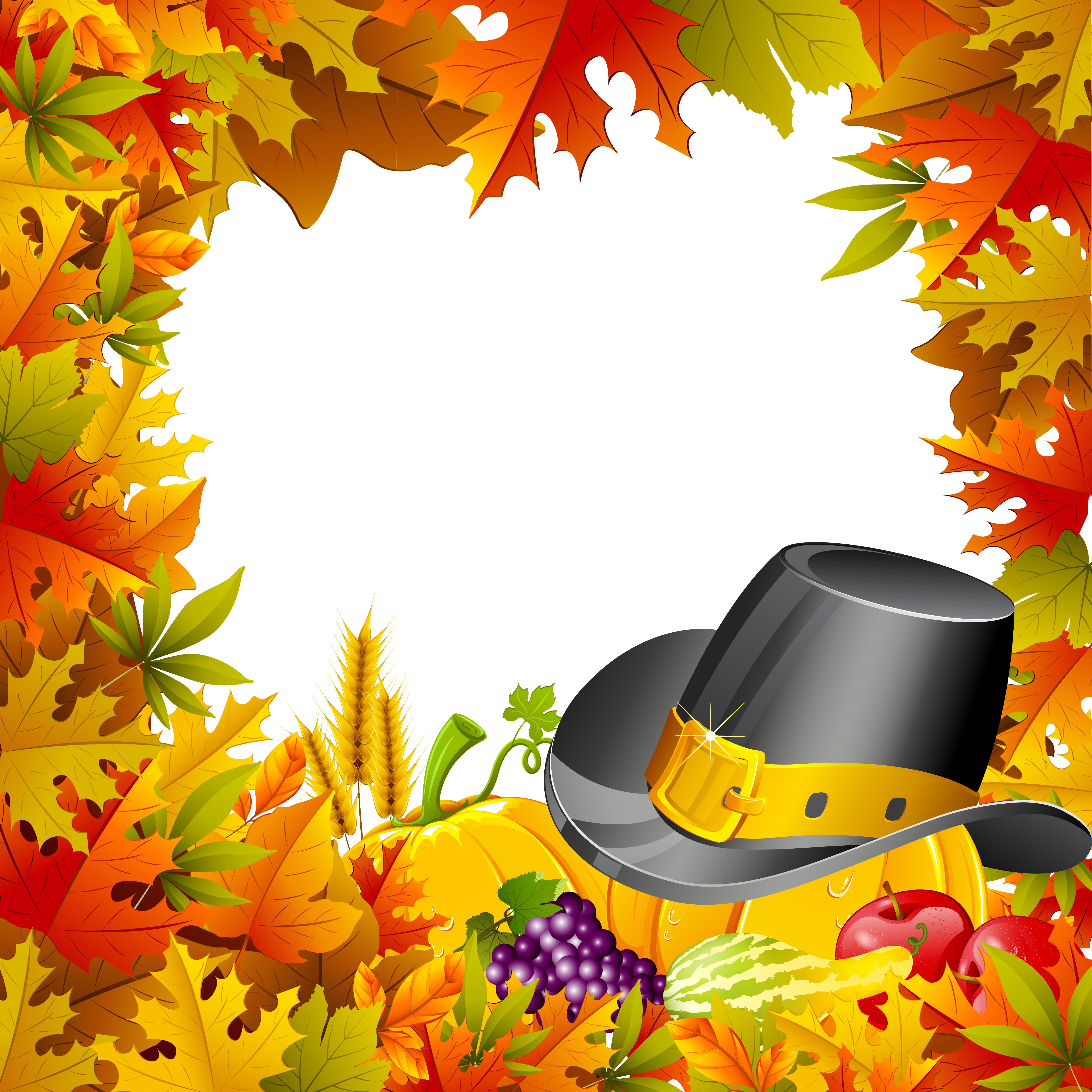Free clipart border thanksgiving clipart download Thanksgiving clipart frame ~ Frames ~ Illustrations ~ HD images ... clipart download