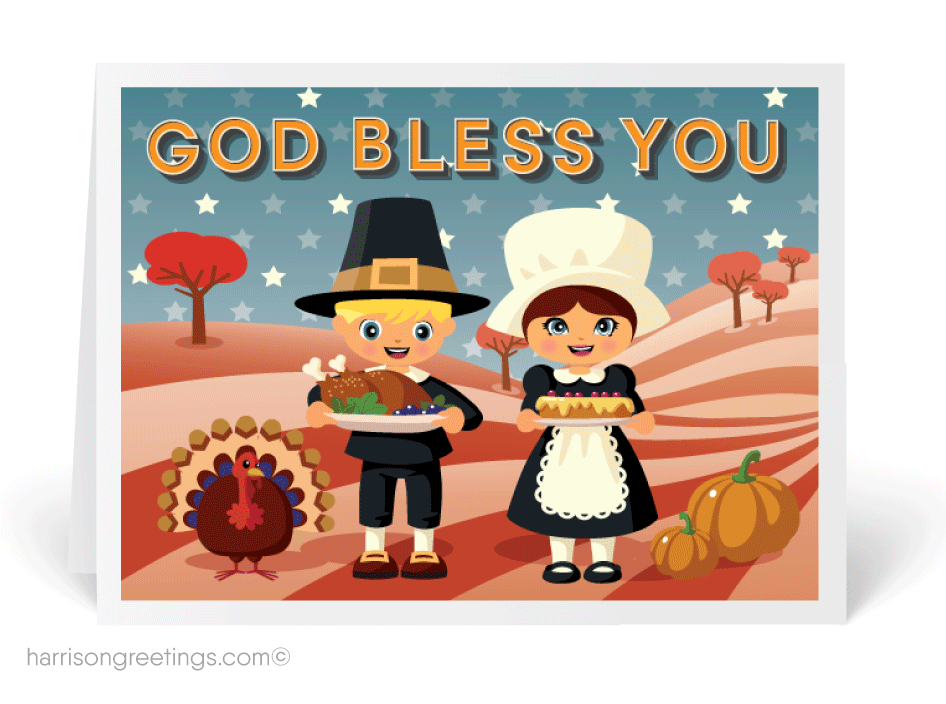 Happy thanksgiving espanol clipart svg Religious Thanksgiving Cards : Harrison Greetings, Business Greeting ... svg