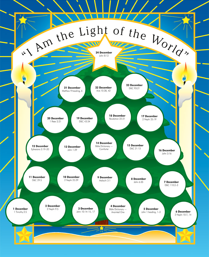Christine countdown to christmas bible versus with clipart vector free I Am the Light of the World vector free