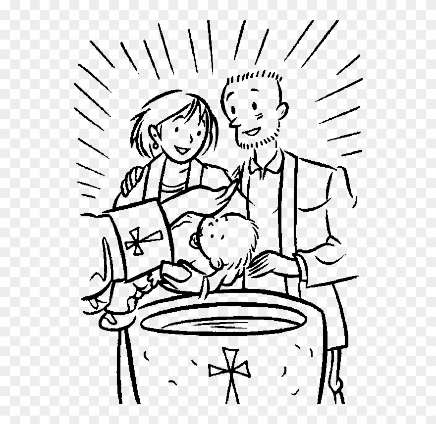 Christineng clipart black and white picture transparent library Sacrament Of Baptism - Baptism Colouring In Sheets Clipart (#1198090 ... picture transparent library