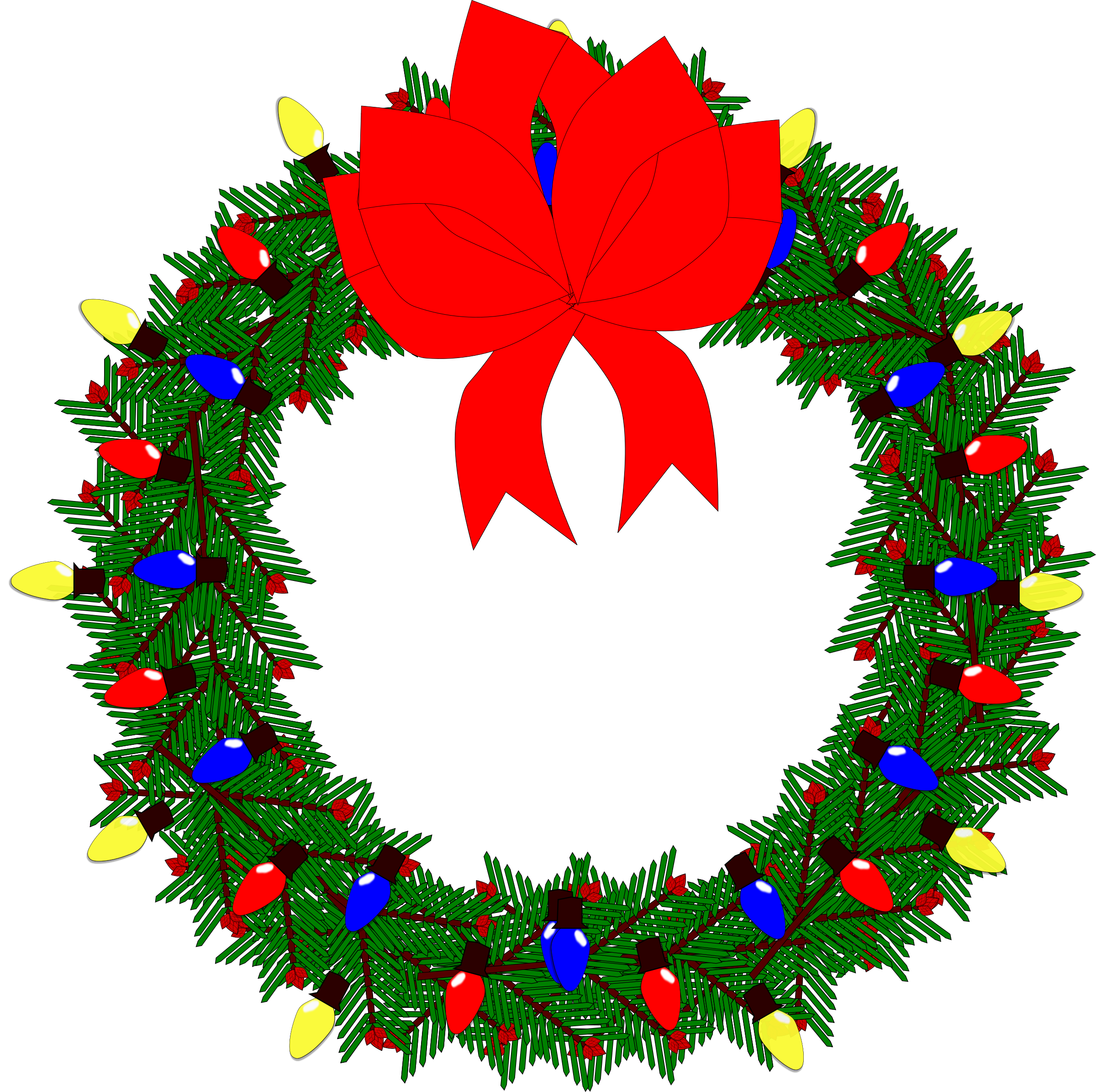 Christmas wreath clipart png clipart stock Clipart - Christmas Wreath 2015 clipart stock