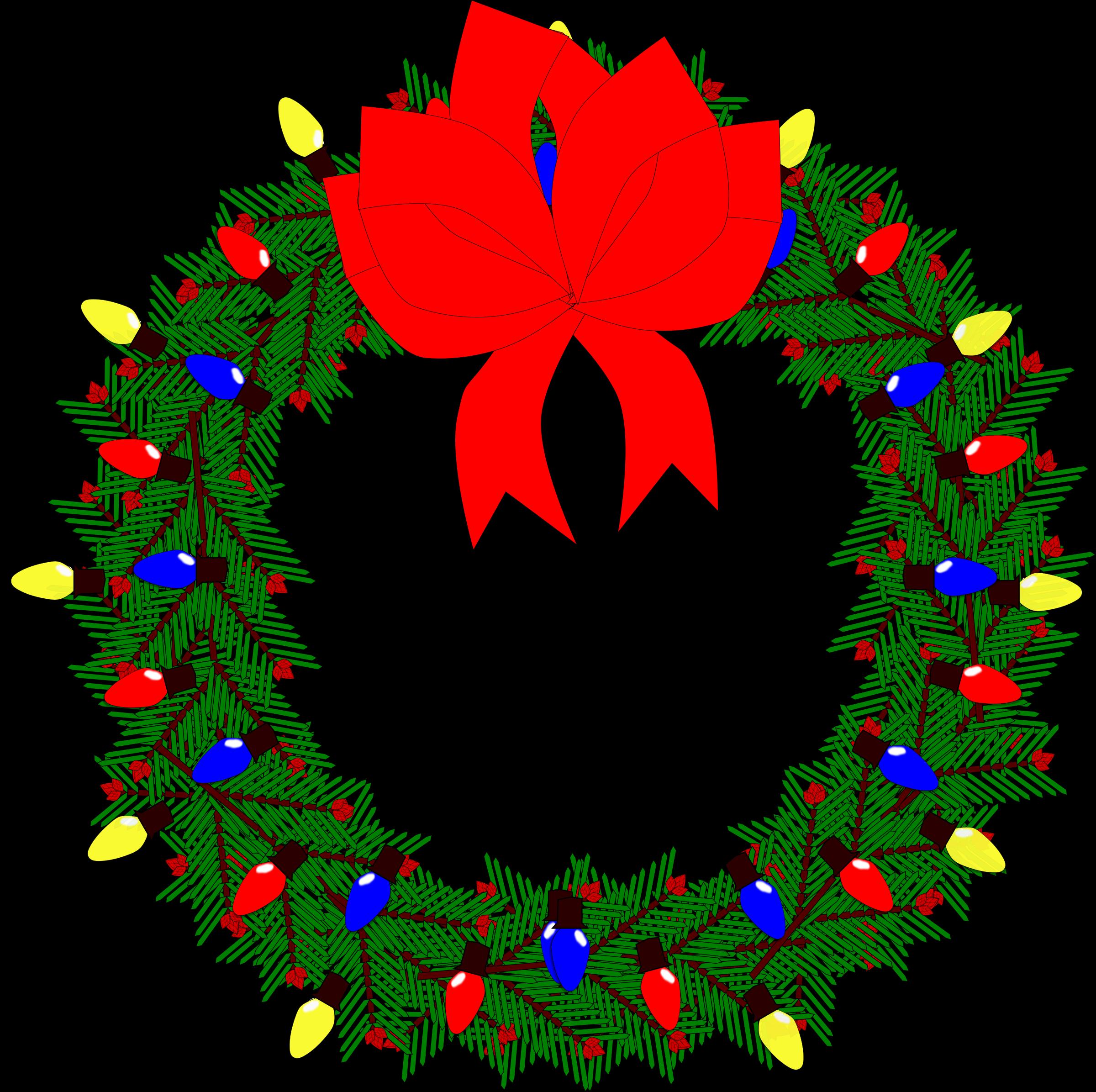 Christmas wreaths clipart clip art library Clipart - Christmas Wreath 2015 clip art library