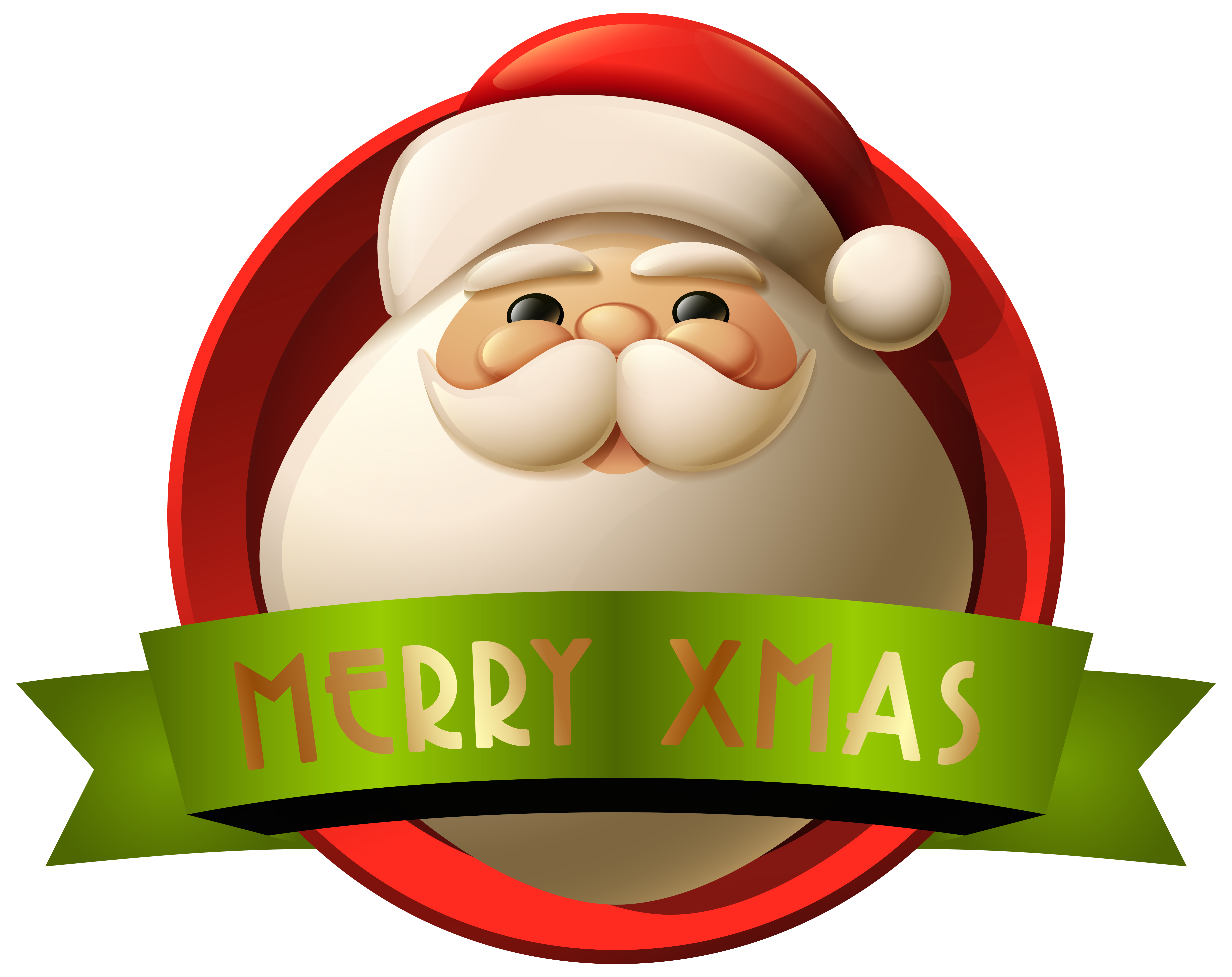 Christmas 2015 clipart vector black and white library Santa Merry Xmas Decoration PNG Clip-Art Image | Gallery ... vector black and white library