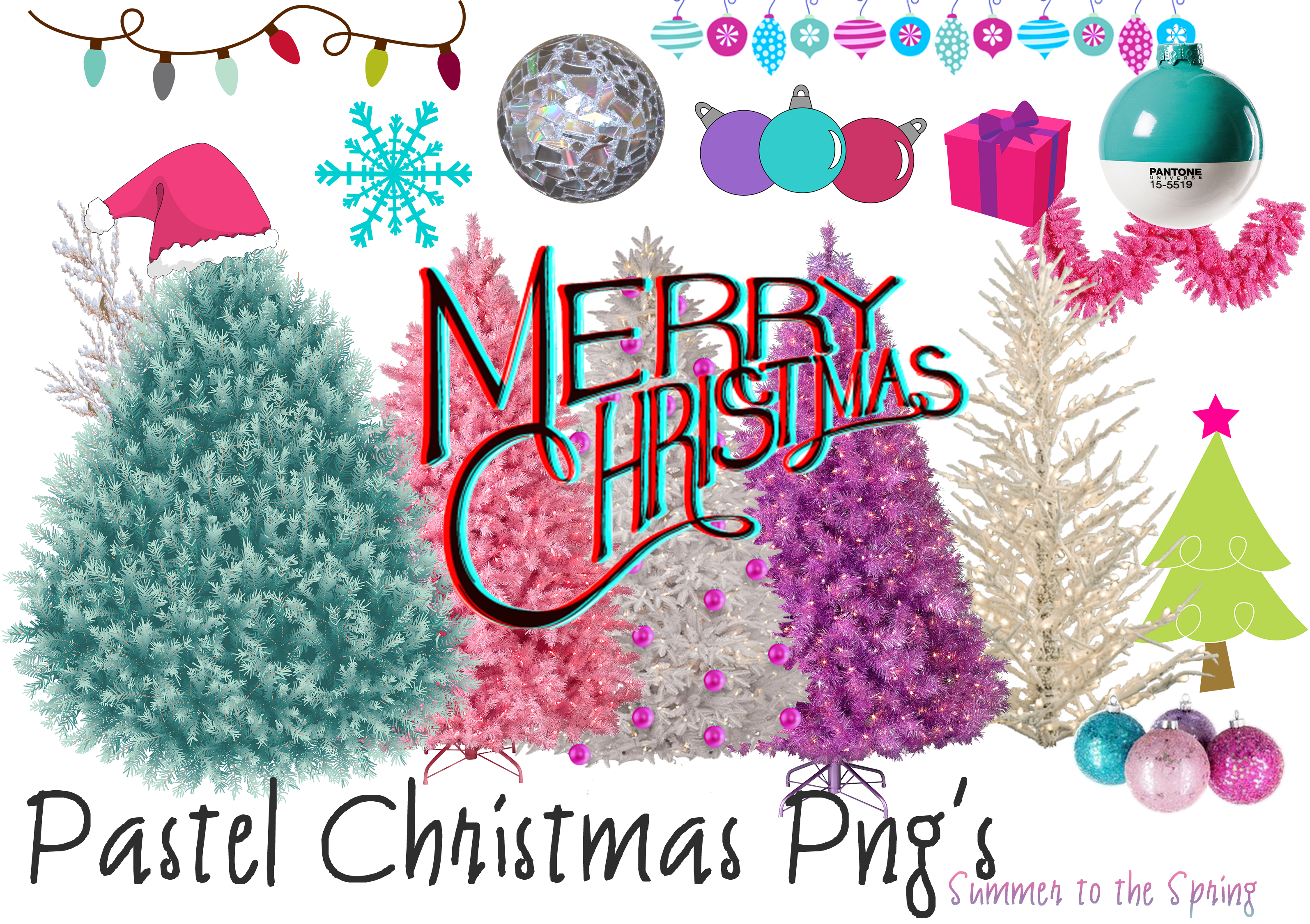 Christmas 2015 clipart banner transparent stock Pastel Christmas Png's by Summer-to-the-spring on DeviantArt banner transparent stock
