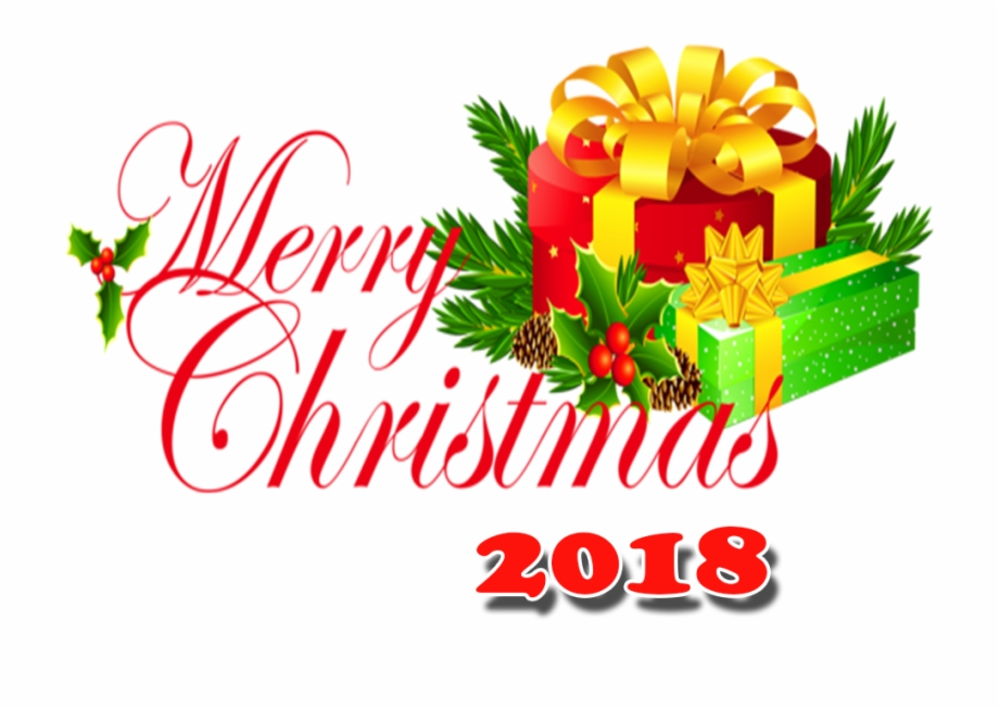 Christmas 2018 clipart graphic royalty free library Merry Christmas 2018 Png With Hd Png - Happy Christmas 2018 Hd Free ... graphic royalty free library