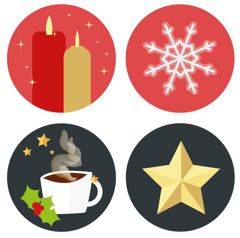 Snowflake edge clipart png library stock 25 Free Christmas Advent Icons To Bring Festive Mood To Your Site ... png library stock