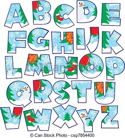 Christmas alphabet clip art free vector royalty free download Christmas alphabet clip art free - ClipartFest vector royalty free download