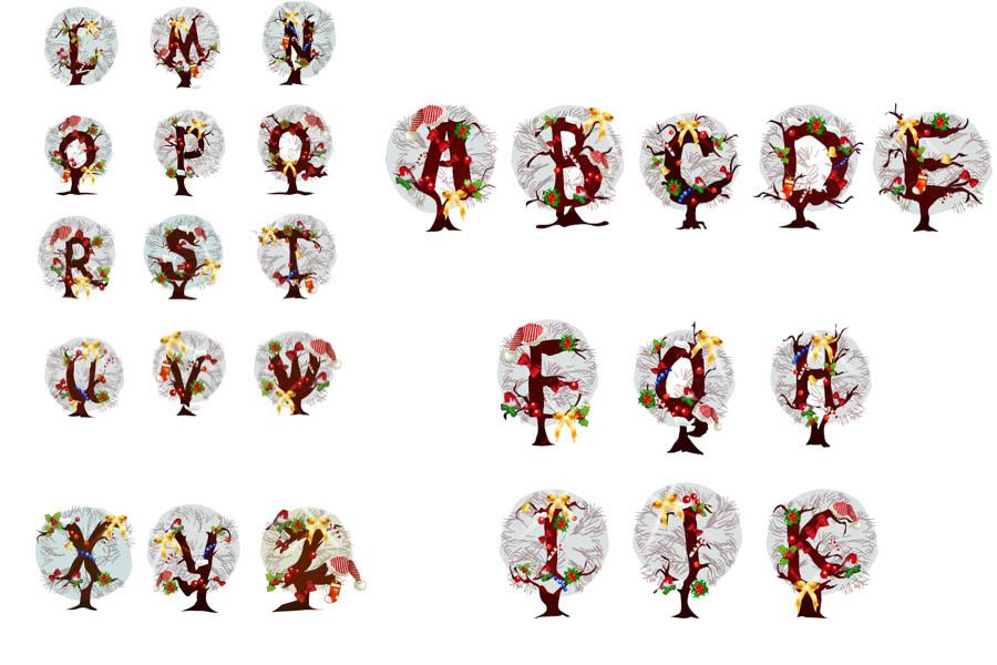 Christmas alphabet clip art free jpg transparent Christmas Alphabet Letters Clipart - Clipart Kid jpg transparent