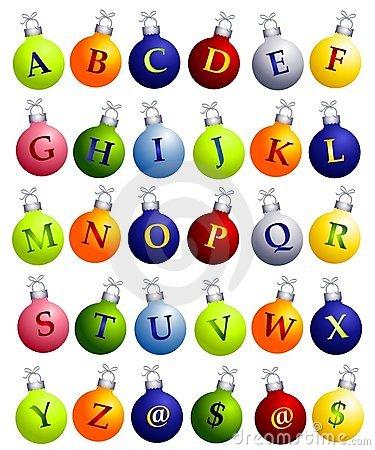 Christmas alphabet clip art free clip freeuse download Alphabet On Christmas Ornaments Stock Photos - Image: 3766043 clip freeuse download