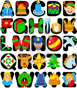 Christmas alphabet clip art free jpg library library Christmas Alphabet Letters Clipart - Clipart Kid jpg library library