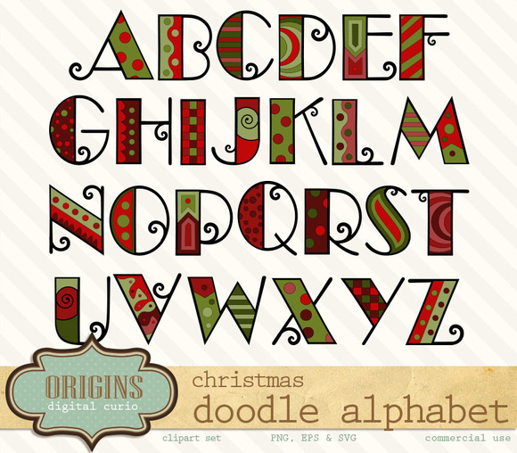 Christmas alphabet clip art free png royalty free Christmas alphabet clipart letters - ClipartFest png royalty free