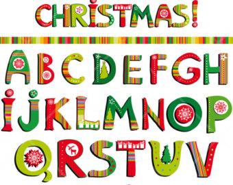Christmas alphabet clip art free png free download Christmas Alphabet Letters Clipart - Clipart Kid png free download