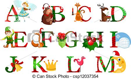 Christmas alphabet clip art free clipart royalty free download Christmas Alphabet Clipart - Clipart Kid clipart royalty free download
