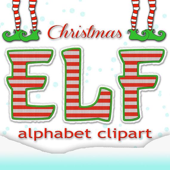Christmas alphabet clip art free svg Christmas Alphabet Letters Clipart - Clipart Kid svg