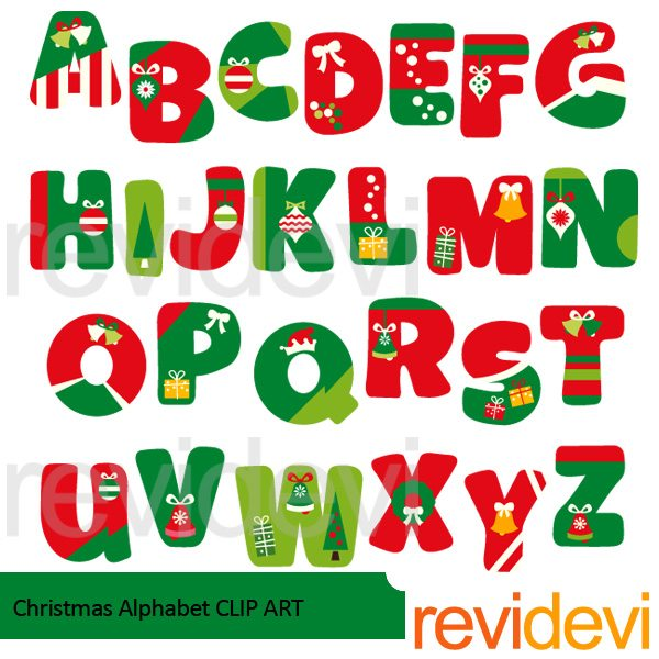Christmas alphabet clip art free png royalty free Christmas Alphabet Clipart | Mygrafico png royalty free