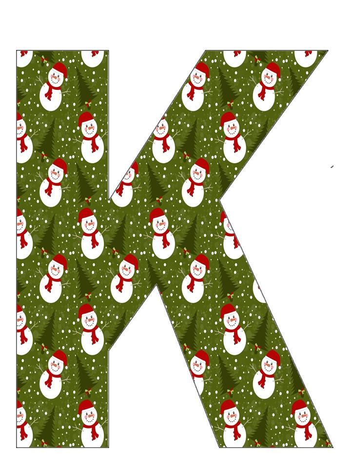 Christmas alphabet clipart image freeuse CH.B *✿* Muñequito de nieve ...de Katia Arte..K | Abc | Pinterest ... image freeuse