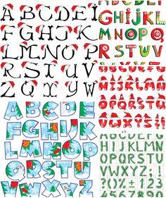 Christmas alphabet clipart banner transparent library Christmas clip art alphabet letters - ClipartFest banner transparent library