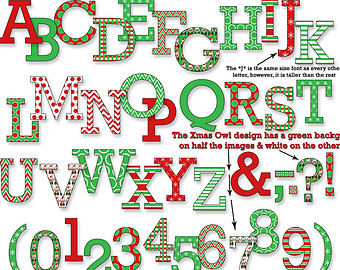 Christmas alphabet clipart clip art black and white library Christmas alphabet clipart letters - ClipartFest clip art black and white library