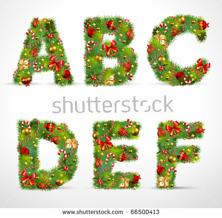 Christmas alphabet clipart picture library library Christmas Alphabet Stock Images, Royalty-Free Images & Vectors ... picture library library
