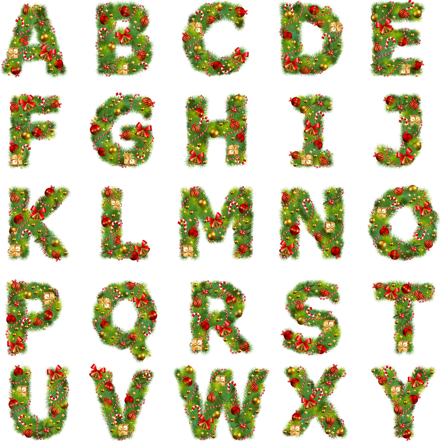 Christmas alphabet clipart graphic royalty free download Christmas alphabet clipart - ClipartFest graphic royalty free download