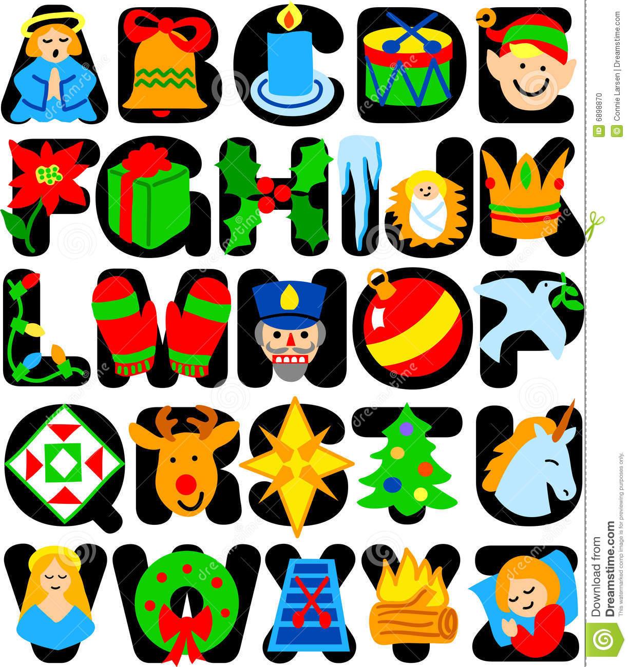 Christmas alphabet clipart letters clipart royalty free stock Christmas Alphabet/eps Stock Photo - Image: 6898870 clipart royalty free stock