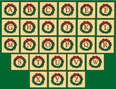 Christmas alphabet clipart letters graphic library stock Christmas clip art alphabet letters - ClipartFest graphic library stock