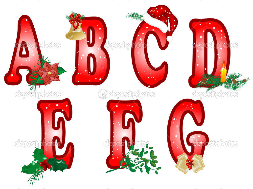 Christmas alphabet clipart letters image library library Christmas Alphabet Letters Clipart - Free Clipart image library library