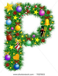 Christmas alphabet clipart letters graphic free library abc adornos de navidad png | SGBlogosfera. María José Argüeso ... graphic free library
