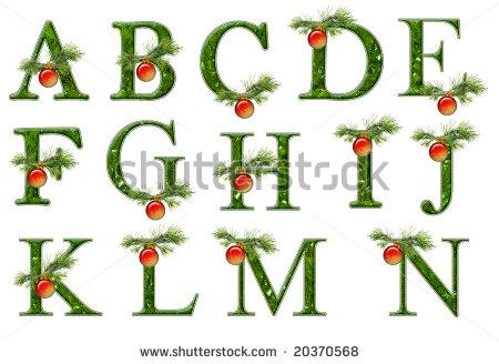Christmas alphabet clipart letters graphic black and white Christmas Alphabet Letters Clipart - Clipart Kid graphic black and white