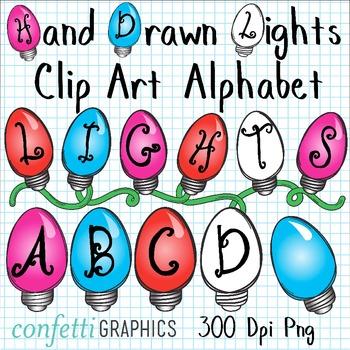 Christmas alphabet letter clipart clip art transparent stock Christmas Light Letters | Merry Christmas clip art transparent stock
