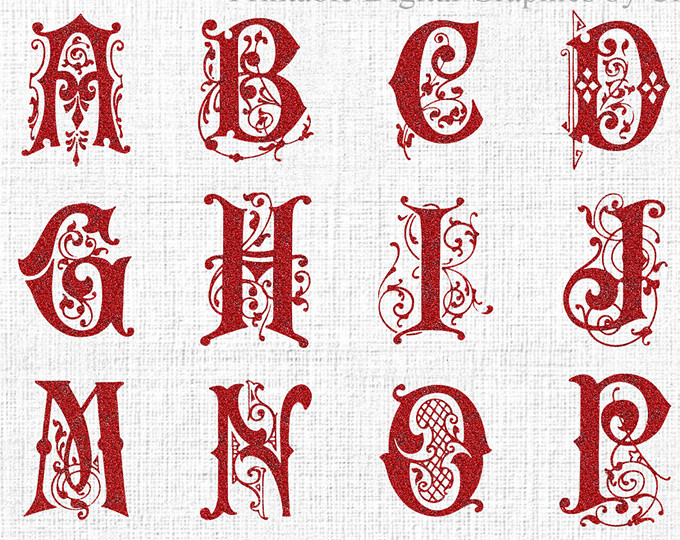 Christmas alphabet letter clipart image library ALPHABETS - ClipartBrat image library