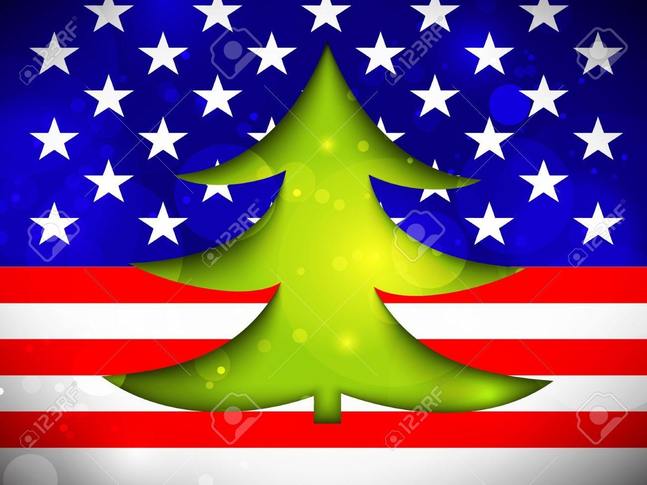 Christmas american flag clipart vector free download Stock Vector   School Christmas Program   Christmas tree, Flag photo ... vector free download