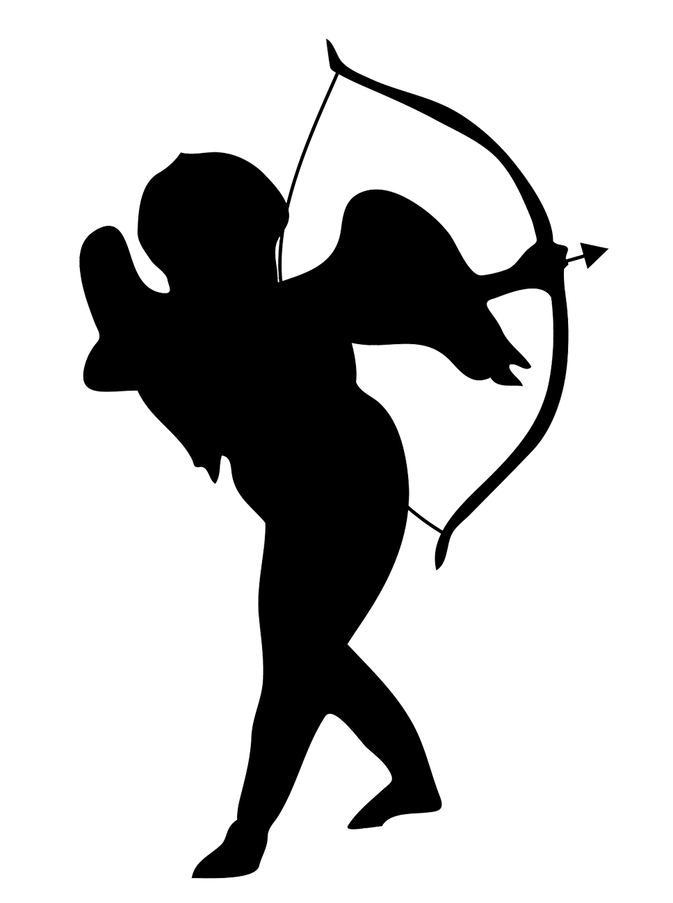 Christmas angel clipart black and white jpg freeuse Christmas Angels Silhouette at GetDrawings.com | Free for personal ... jpg freeuse