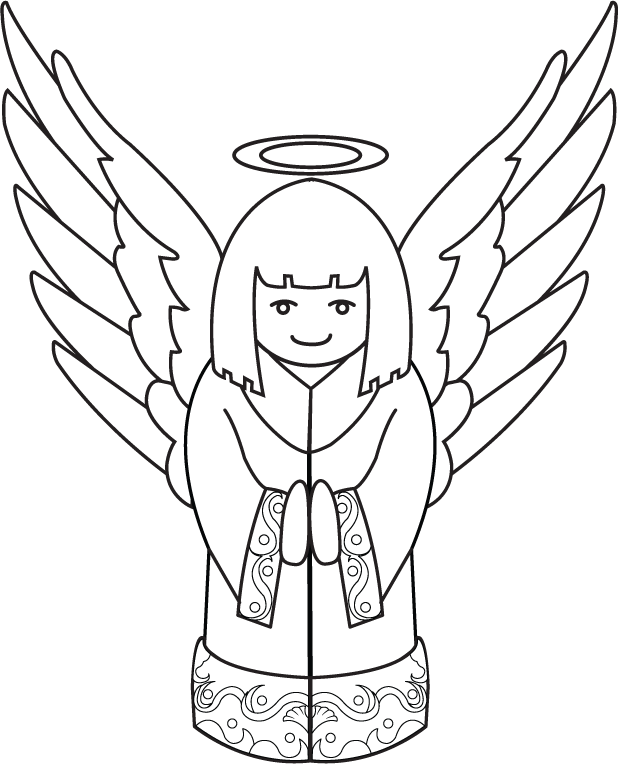 Christmas angels clipart black and white image library download Free Clip-Art: Holiday Clip-Art » Christmas » Little Christmas Angel ... image library download