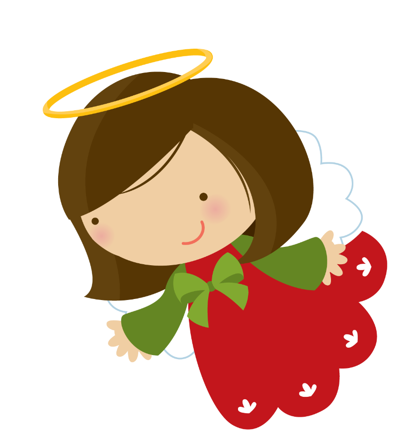 Christmas chicken clipart graphic freeuse library 28+ Collection of Cute Christmas Angel Clipart | High quality, free ... graphic freeuse library