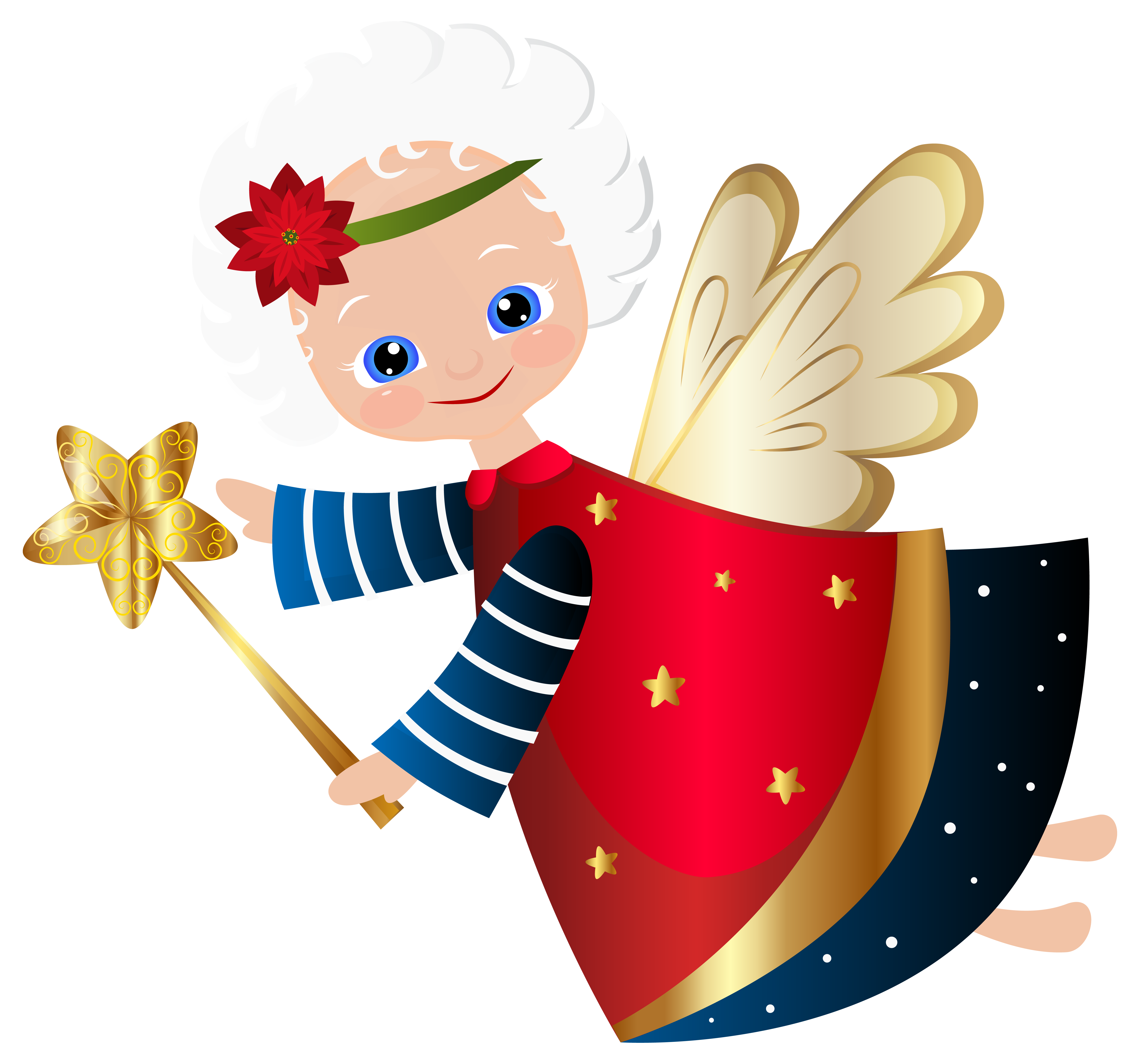 Christmas angel tree clipart svg black and white library Cute Christmas Angel Transparent PNG Clip Art Image | Клипарты ... svg black and white library