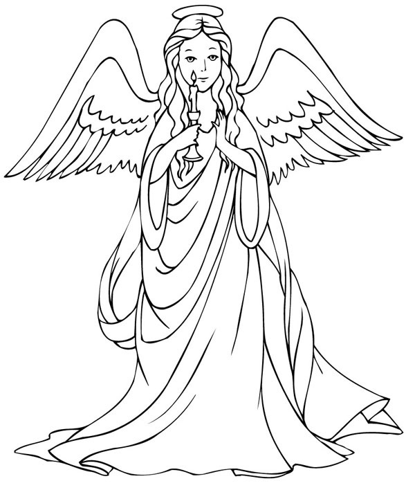 Christmas angels black and whtie clipart pencil sketch banner black and white download 15 Angel drawing colored for free download on ayoqq.org banner black and white download