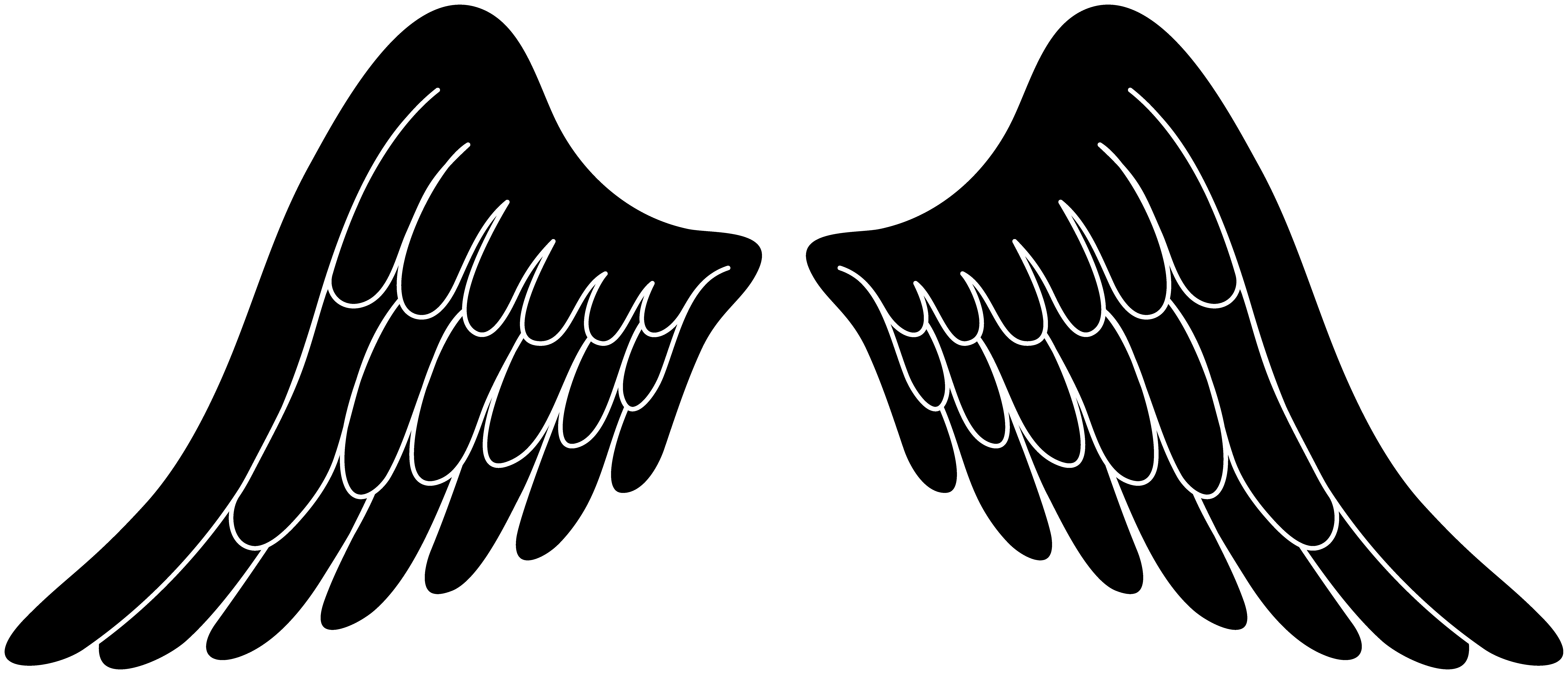 Christmas angels clipart black and white graphic stock Angel pari clipart graphic stock