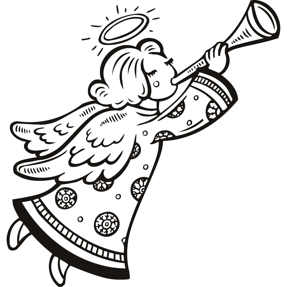 Free christmas angels clipart black and white. Angel image