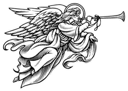Angel design templates . Free christmas angels clipart black and white