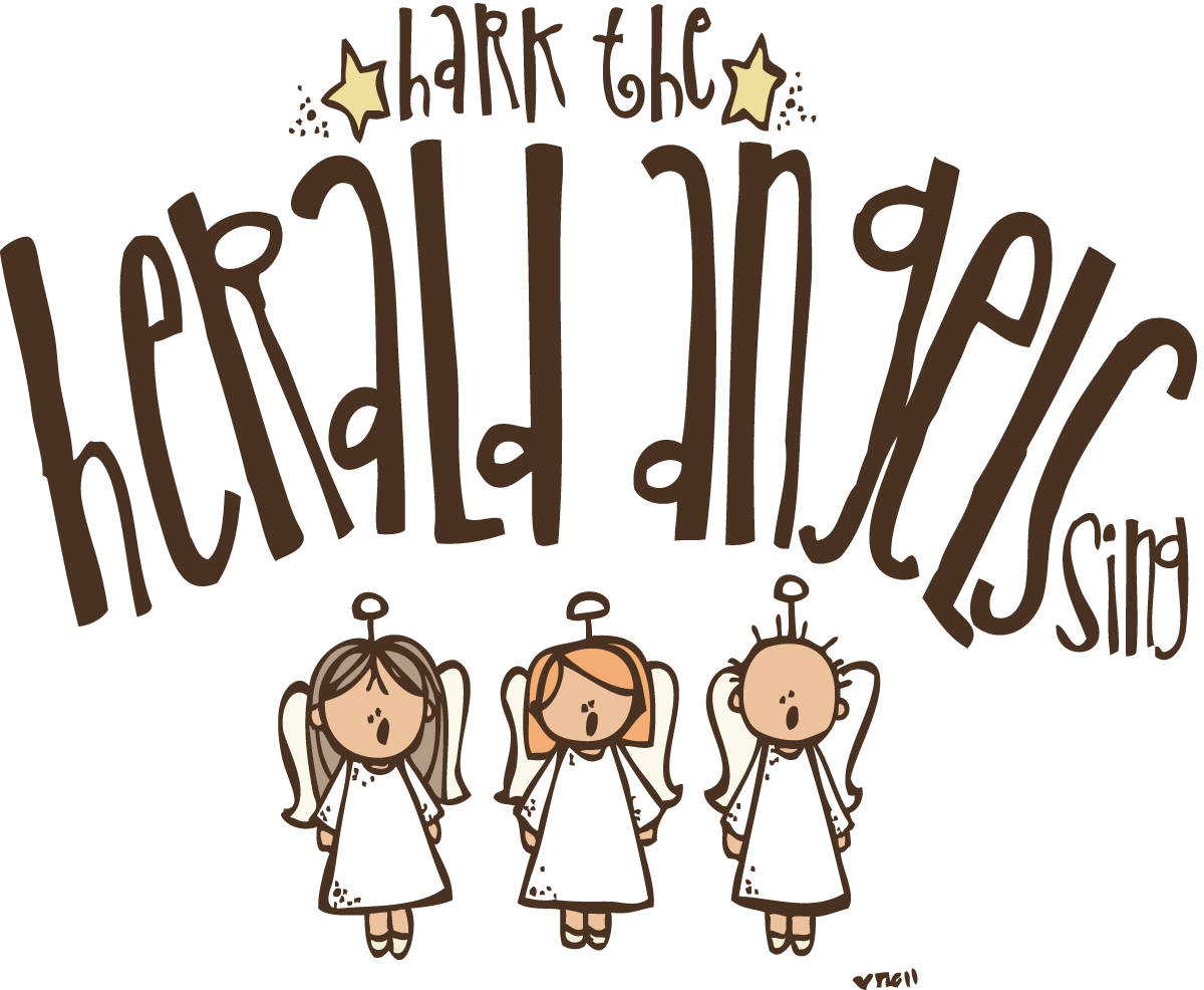 Christmas angels singing clipart svg free download Melonheadz LDS illustrating: Hark the Herald Angels sing!!!! svg free download
