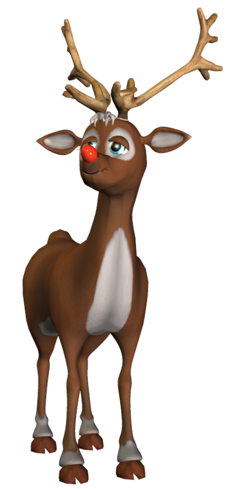 Christmas animal clipart jpg download Rudolf 3D PNG Clipart | Gallery Yopriceville - High-Quality Images ... jpg download