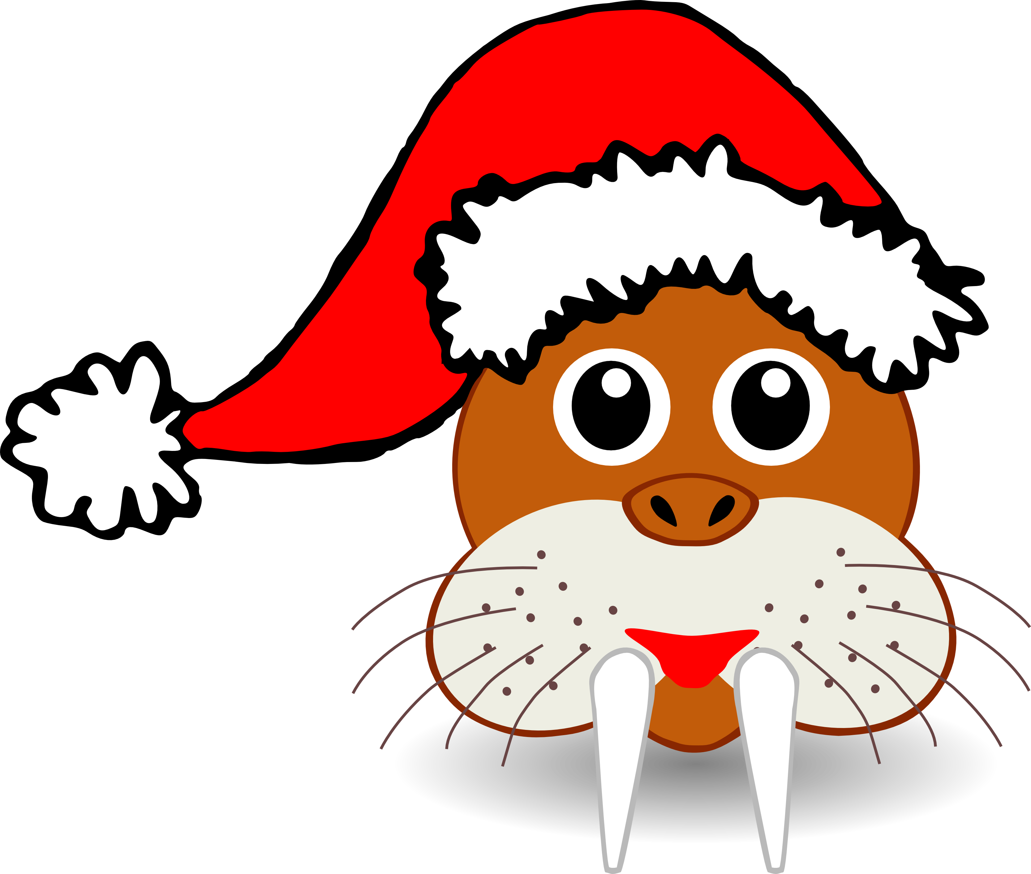 Funny christmas clipart clipart free library Animal Clipart Christmas clipart free library