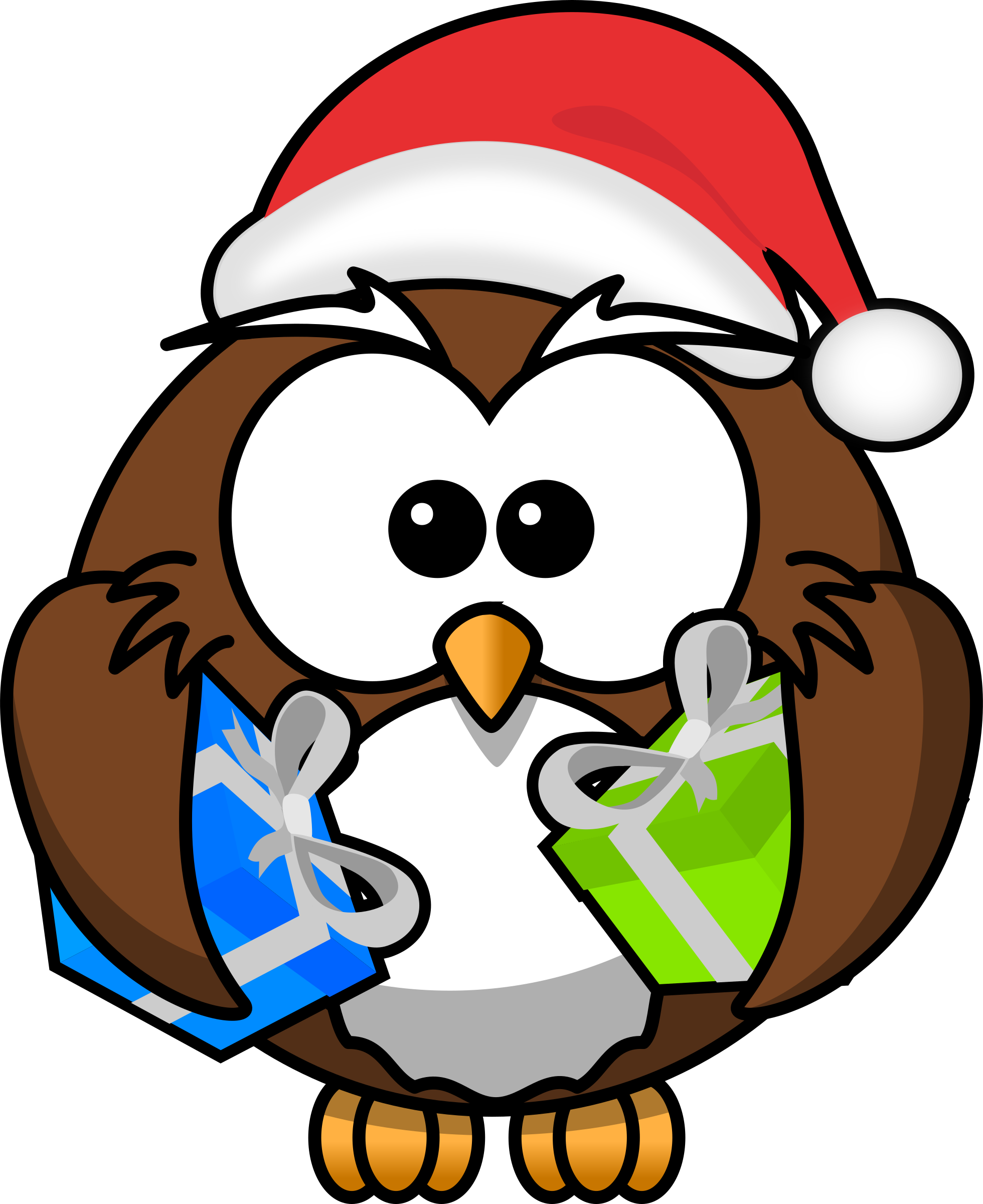 Christmas animals clipart svg library library Christmas Owl Clipart svg library library
