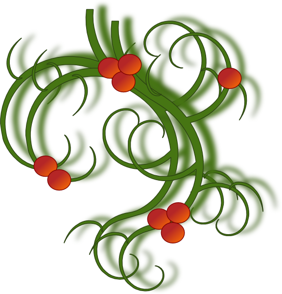 Christmas holiday party clipart graphic free Christmas Swirls Clip Art at Clker.com - vector clip art online ... graphic free