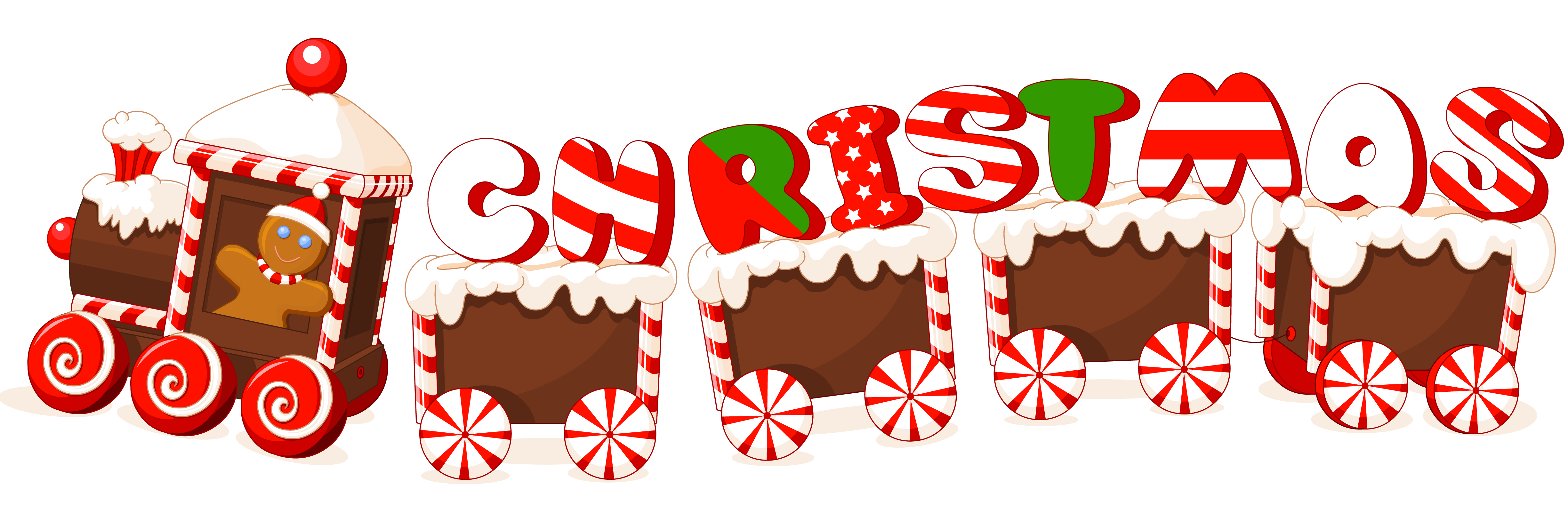 Christmas baking clipart clip art library stock Merry Christmas Candy Train Text Label | Gallery Yopriceville ... clip art library stock